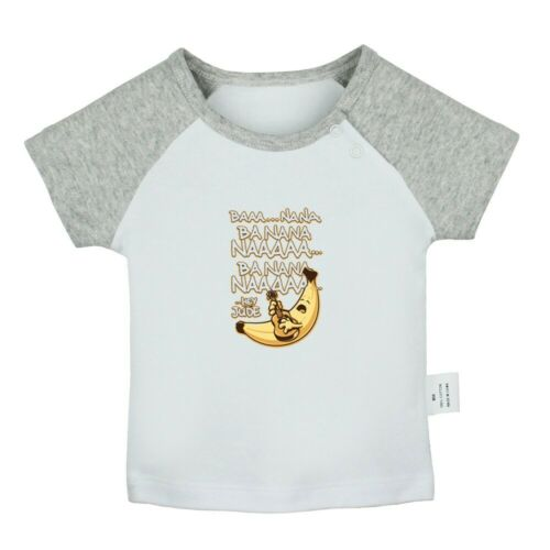 Happy Banana Play the guitar Hey Jude BAA NANA Newborn Baby T-shirt Graphic Tee