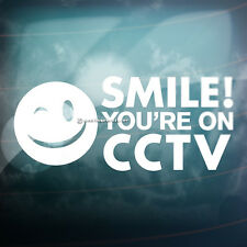 SMILE YOU ARE ON CCTV Camera Car,Van,Window or Shop Security Vinyl Decal Sticker