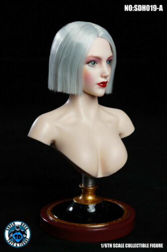 "SUPER DUCK SDH019A1//6 Makeup Head Sculpt Model F 12/"" Female Phicen Figure Body"