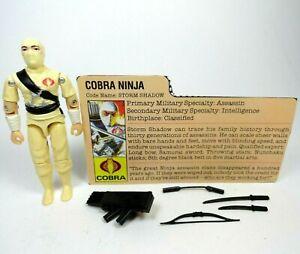 Vintage-GI-Joe-Cobra-1984-Storm-Shadow-Figure-Original-Lot