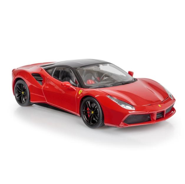 Bburago Ferrari 488 Gtb 1:18 Escala Serie Signature Fundido Modelismo Coche Rojo