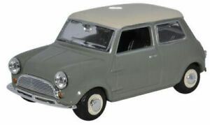 Classic-Mini-Car-Diecast-Model-1-43-Scale-Tweed-Grey-Oxford-Automobile-NEW