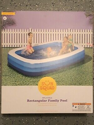 Sun Squad 10 X 22 Deluxe Rectangular Family Inflatable Above Ground Pool