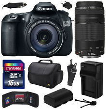 Canon EOS 60D SLR Camera with 18-135mm + 75-300mm III Lens (16GB Value Bundle)