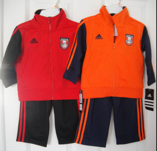 ADIDAS NWT Infant Boy 2PC Track Suit Jacket Pant Top Warm Up 12 18 24 Months