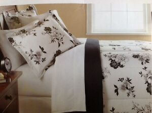 Mainstays Black And White Floral Full Size 8 Piece Bedding Set Ebay