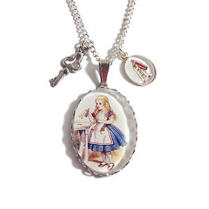 ALICE-in-wonderland-necklace-DRINK-ME-pendant-charm-bottle-cheshire-cat-mad-here