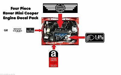 Rover Mini Cooper Engine Decal Pack 4 Piece Mpi Spi Seven 1.3i Sportspack Works