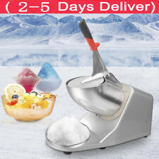 143 Lbs Ice Shaver Machine Snow Cone Maker Shaved Ice Electric Crusher Shaving