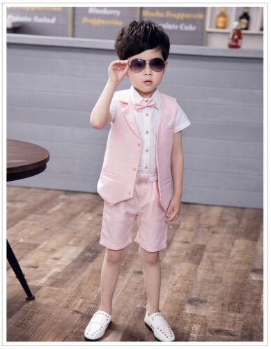 Boy Baby Formal Boys Suits Short Suit Waistcoat Suit Wedding Page 4 Piece Set