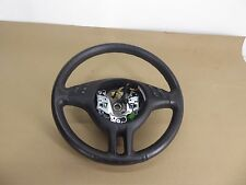 BMW E46 E53 LEFT DRIVER SIDE SPORT STEERING WHEEL WITH SWITCHES BLACK LEATHER #2