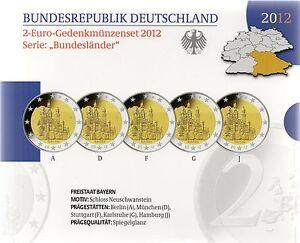 2 Euro Commémorative d'Allemagne 2012 Belle Épreuve (BE) - Bavière