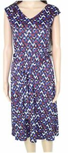 Weekend by Max Mara Women's Dress Blue Size XS A-Line Belted Midi $295- #263