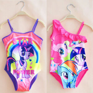 c7984fffe Kids Girls Cartoon My Little Pony One-Piece Monikini Swimwear ...