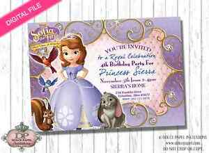Image Is Loading Digital File Princess SOFIA The First Birthday Party