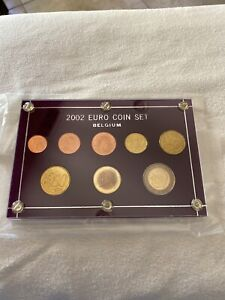 2002-Euro-Coin-Set-Belgium-In-Capital-Holder
