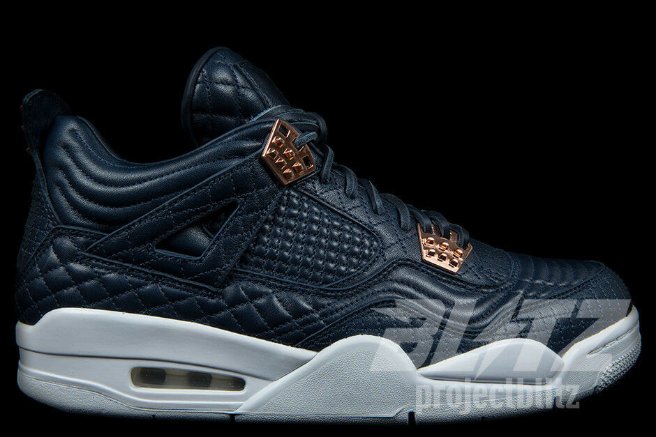AIR JORDAN 4 RETRO PREMIUM PINNACLE Sz 9.5-14 OBSIDIAN WHITE  819139-402