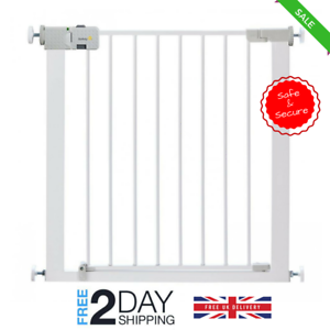 Image Is Loading Metal Stair Gate Door No Drill Safety Barrier