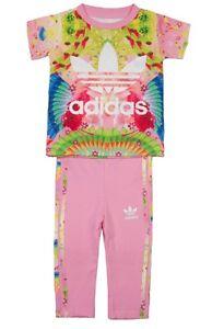 Adidas-Ninas-Bebe-Plumas-Set-2-piezas-Leggings-AJ0023-Rosa-multi-6-9m-Up