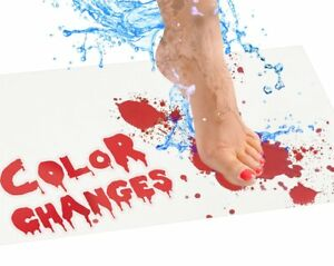 shower rug that turns red when wet ebay Bloody Bath Mat Sheet Invisible Color Changing Turns Red When Wet  shower rug that turns red when wet ebay