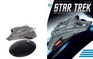#80 Star Trek Federation Mission Scout Die Cast Metal Ship-UK/Eaglemoss w Mag