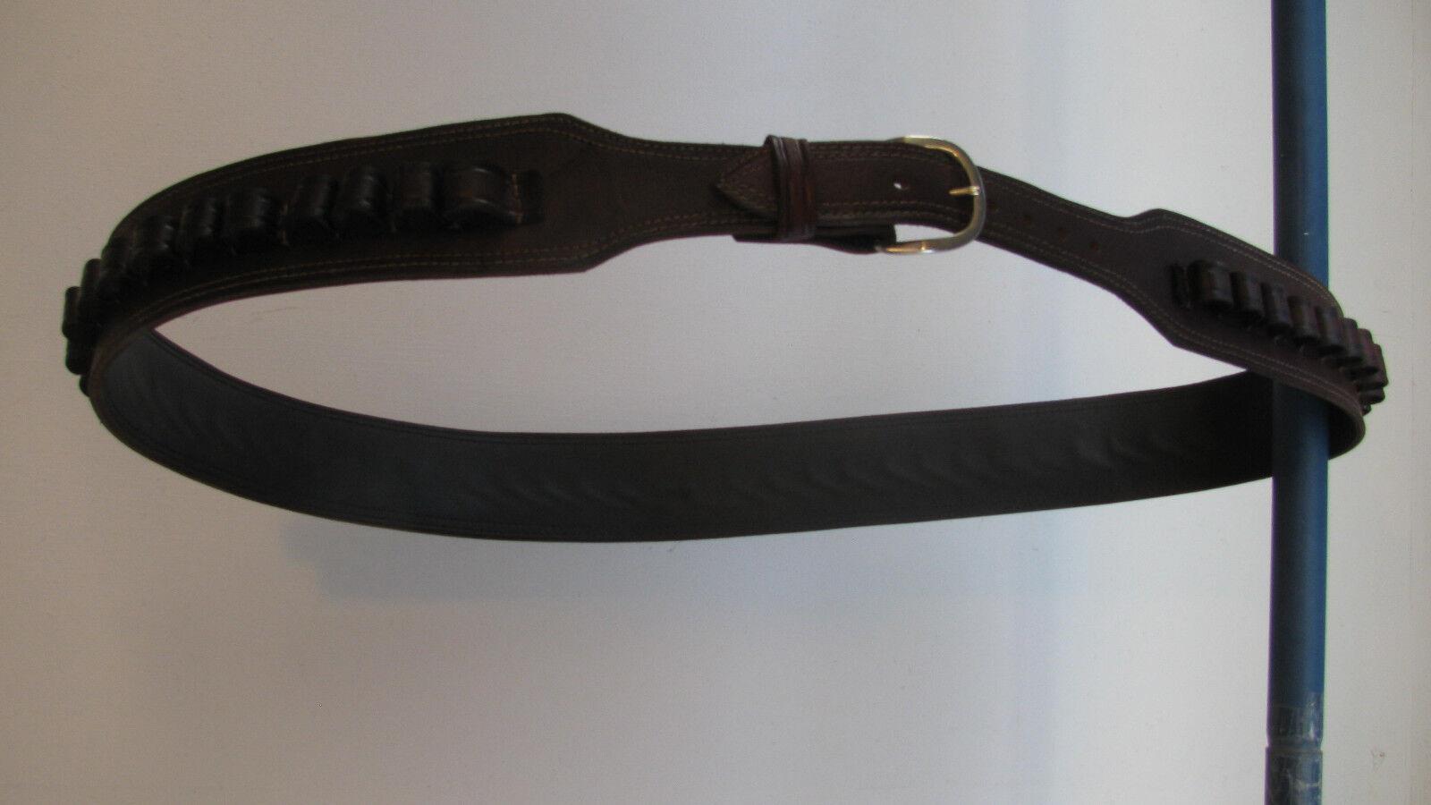 Braun Cowhide Leder BANDOLIER BANDOLERO Ammo Belt for 12 Guage Shotgun Shotgun Guage Shell 0c2d44