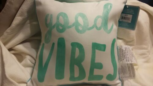 Fashion Pillow Good Vibes 12 In X 12 In 100 /% Polyester