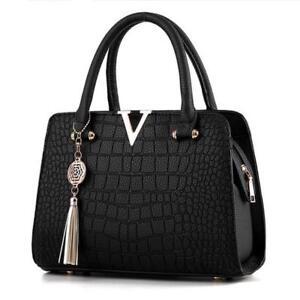 Crocodile-Pattern-Faux-Leather-Handbag-Purse-Shoulder-Women-Handbags-Alligator