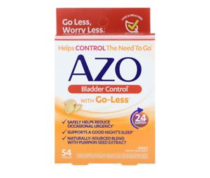 Azo Bladder Control >> Details About New Azo Bladder Control With Go Less Urinary Health Reduce 54 Capsules Tablets