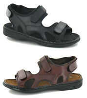 Mens Leather Sports Gym Walking Cushioned Summer Beach Mules Sandals Shoe Size
