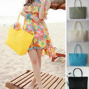 93040e6dea Beach Bags Handmade Women Shoulder Bag Summer Purse Tote Female Big ...