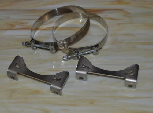 """Stainless Steel Oil Tank Mounting Brackets Adjustable Multi position fits 5/"""" tan"""