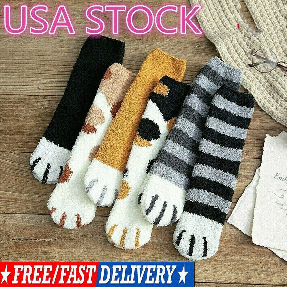 Winter Cat Paw Socks Sleeping Socks Home Floor Indoor Thick