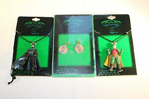 C-1995-Batman-Forever-2-x-Batman-Forever-Necklace-amp-1-Set-of-Earrings