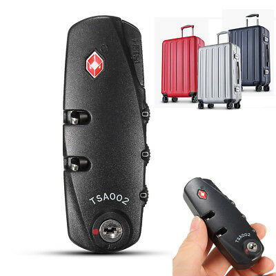 66c8672c202e 3-Dial Digit TSA Approved Brass Combination Password Lock Luggage Travel  Padlock