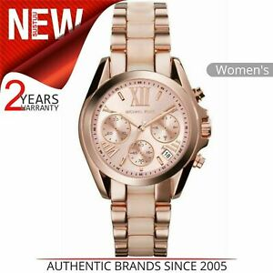 Details about Michael Kors Bradshaw Ladies' Rose Gold Dial Chrono Design Round Watch MK6066
