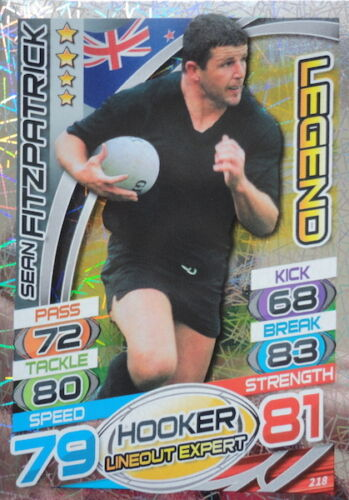 Legend Cards 196-235 Topps Rugby Attax England 2015 Trading Cards