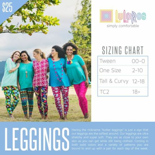 White Size e grandi Top multi colore Leggings Solid Lularoe Tank floreali New HXwaEqE