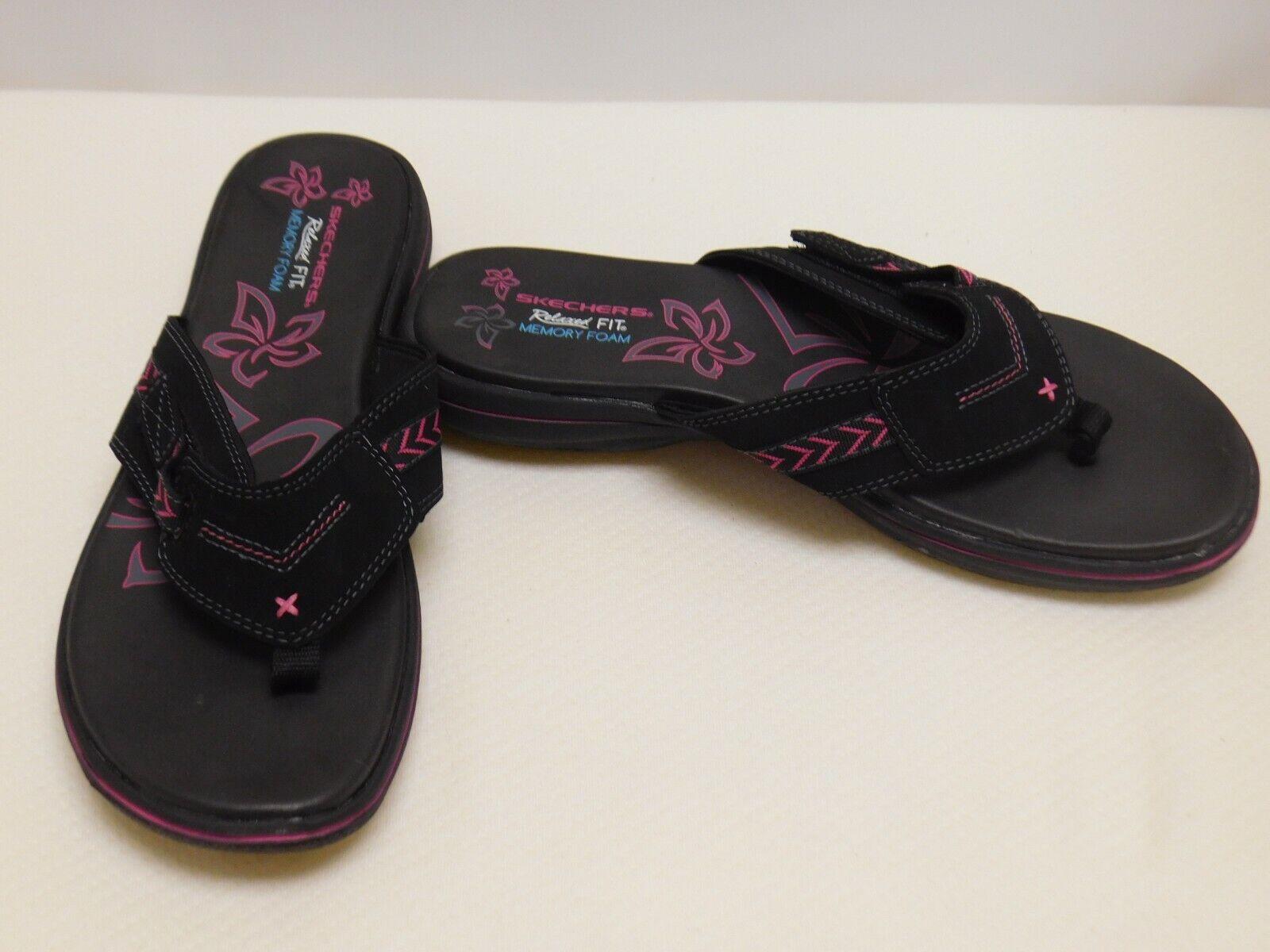 Skechers Women's Bayshore Flip Flop, Black, 10M