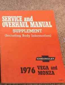 1976-GM-Chevrolet-Chevy-Vega-amp-Monza-Service-amp-Overhaul-Manual-Supplement-OEM