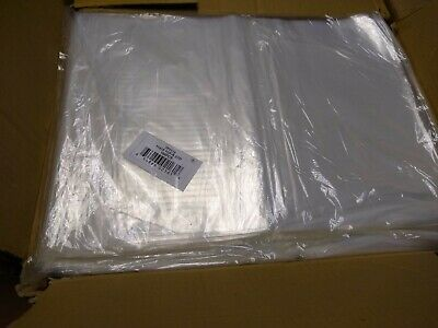 """1000 11/""""x15/"""" Poly Bags TUF-R 1mil Lay Flat Clear Open Top End Heat Seal NEW"""
