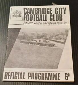Cambridge-City-v-Barnet-Programme-07-12-65