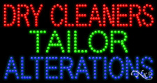 New Dry Cleaners Tailor Alterations 32x17 Solid Amp Animated Led Sign 21695