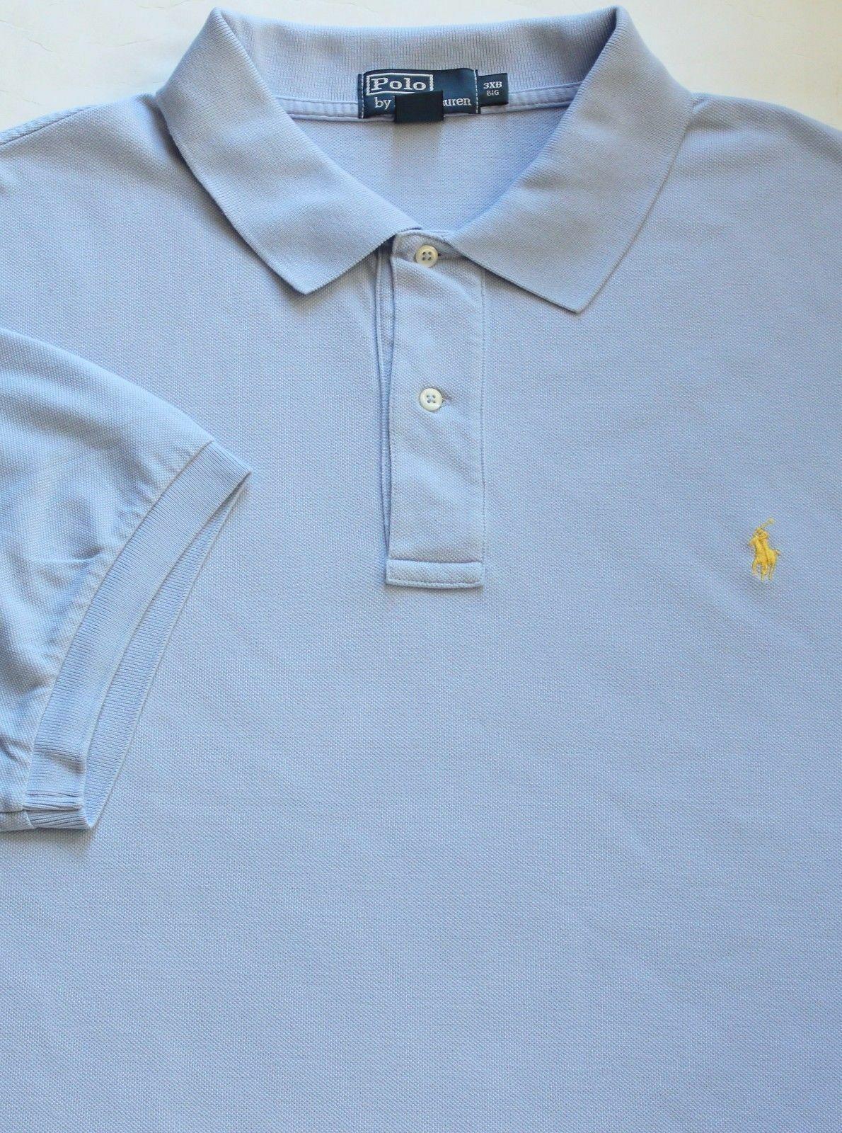 New Polo Ralph Lauren Winter bluee Cotton Mesh Polo Shirt   4XLT