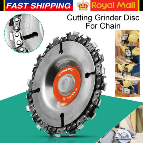 """4/"""" Angle Grinder Disc 22 Tooth Saw Blade Chain Saw for Carving Wood Plastic UK"""