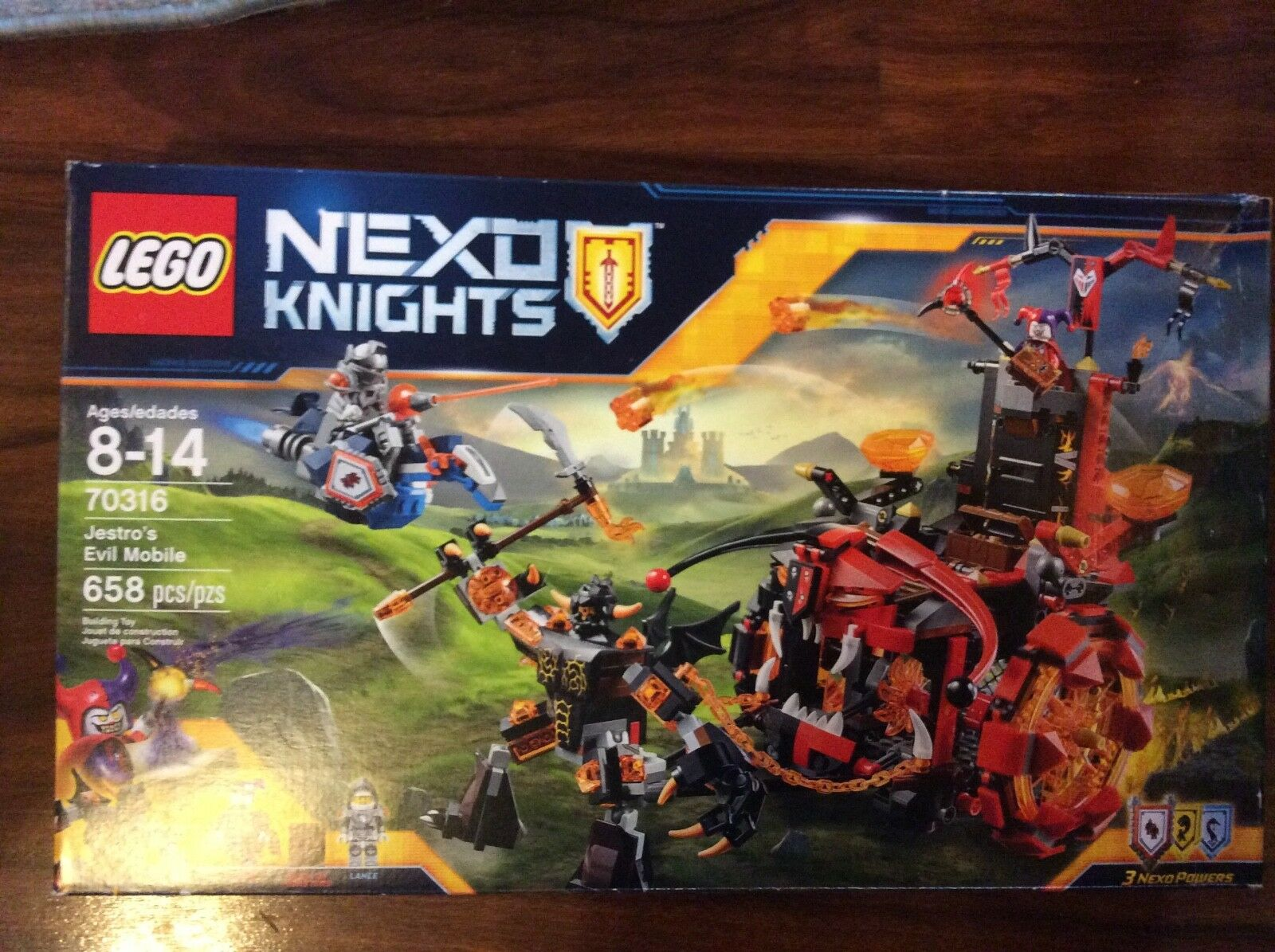Nuovo Lego Nexo Knights Jestro's Evil Mobile Set 70316 in Sealed Box Shelfwear