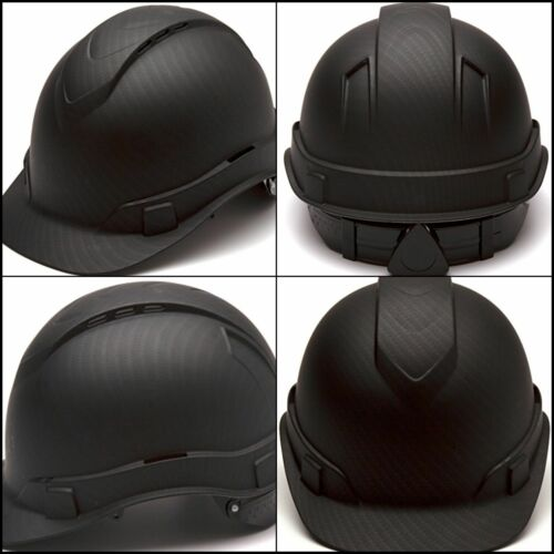 4-Point Ratchet Suspension Pyramex Ridgeline Cap Style Hard Hat Vented