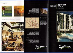 radisson hotel newport beach california travel brochure color photos