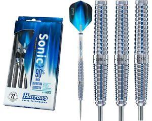 Harrows-Sonic-Darts-Steel-Tip-90-Tungsten-Blue-Groove-21g-23g-25g