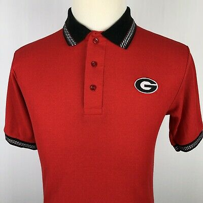 pretty nice e493a 3cb77 University of Georgia Polo Shirt Small Red Black White Bulldogs UGA 100%  Cotton | eBay
